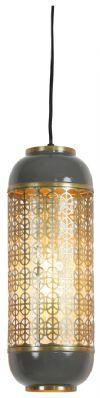 Light & Living Hanglamp 'Rohit' 17cm, donker warm grijs