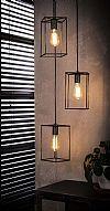 Industriële Hanglamp 'Cubic' 3-lamps